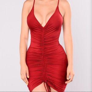 NWOT Fashion Nova ruched dress
